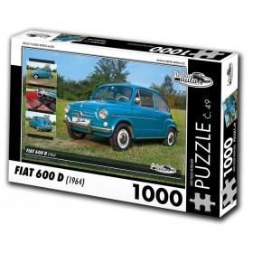 FIAT 600 D, 1000 dílků, puzzle 49