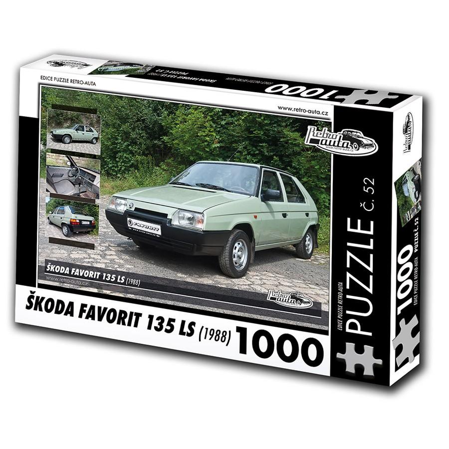 Škoda Favorit 135 LS, 1000 dílků, puzzle 52