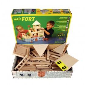 Dřevěná  stavebnice VARIO Fort 194 dílů