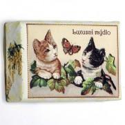 Luxusní mýdlo s kočičkami, 200 g