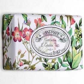 Handmade Geranium&Green Tea přírodní mýdlo, 200 g
