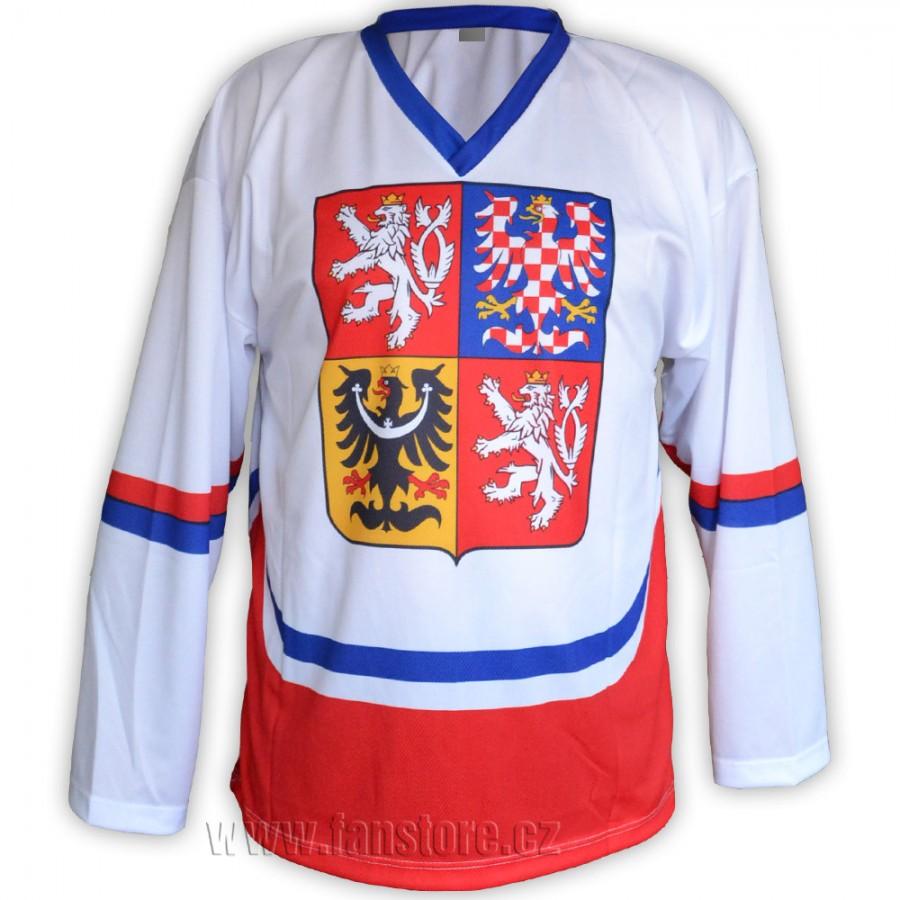 Hokejový dres ČR biely