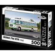 Autobus Škoda 706 RTO (1968) 500 dílků, puzzle B01