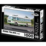Autobus Škoda 706 RTO (1968) 1000 dílků, puzzle B01