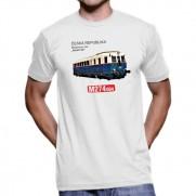 Tričko Lokomotiva M 274.004 Modrý šíp