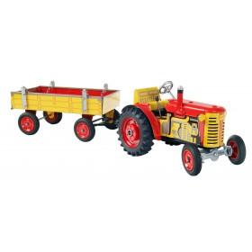 Traktor Zetor s valníkem, s kovovými disky