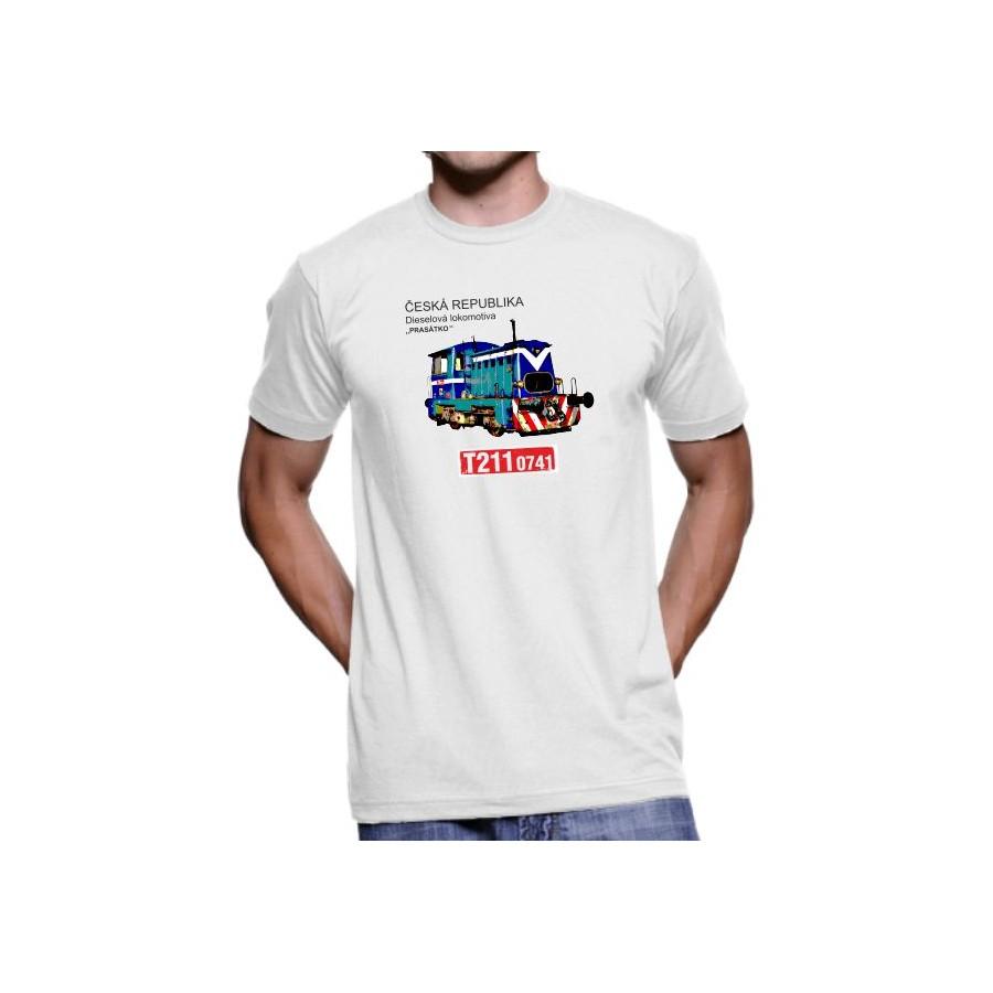 Tričko Lokomotiva T211.0741 Prasátko