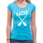 Vodácké tričko Háček dámské světle modré