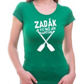 Vodácké tričko Zadák dámské zelené