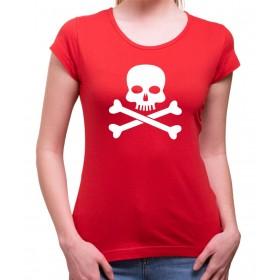 Vodácké tričko Pirát dámské červené