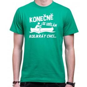 Vodácké tričko Konečně.. pánské zelené