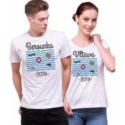 Vodácke tričko Vlnky s potlačou na želanie