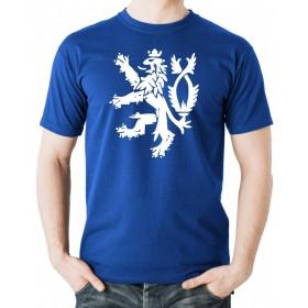 Tričko Český Lev modré