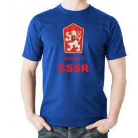 Tričko Narozen v ČSSR modré