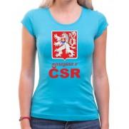 Tričko Narodená v ČSR svetlo modré