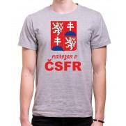 Tričko Narodený v ČSFR sivé