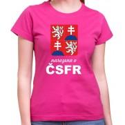 Tričko Narodená v ČSFR ružové