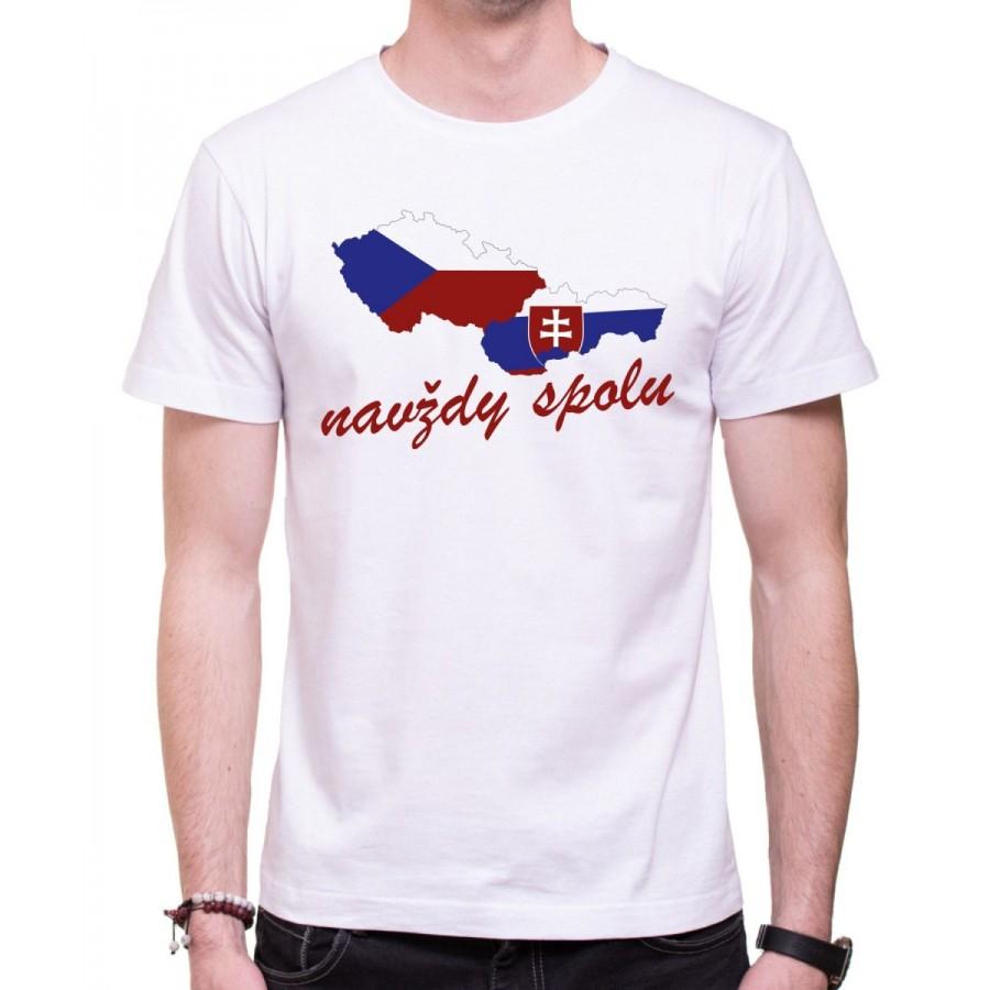 Tričko Navždy spolu bílé