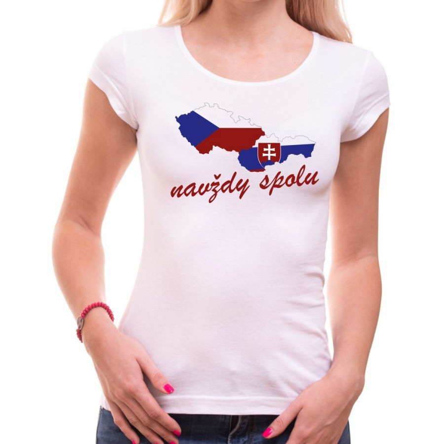 Tričko Navždy spolu dámské bílé