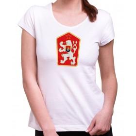 Tričko ČSSR Znak dámské bílé