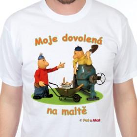 Tričko Pat a Mat - Dovolená na maltě