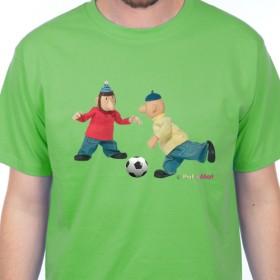 Tričko Pat a Mat hrají fotbal