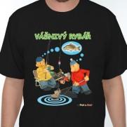 Tričko Pat a Mat - Vášnivý rybář