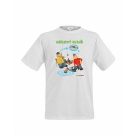 Dětské tričko Pat a Mat - Vášnivý rybář