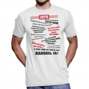 Retro tričko Můj rok 1985