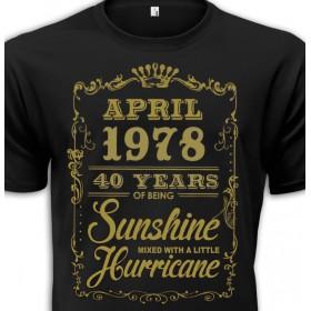 Tričko Sunshine narozeninové