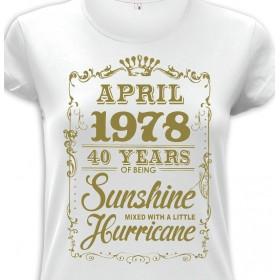 Tričko Sunshine narozeninové dámské