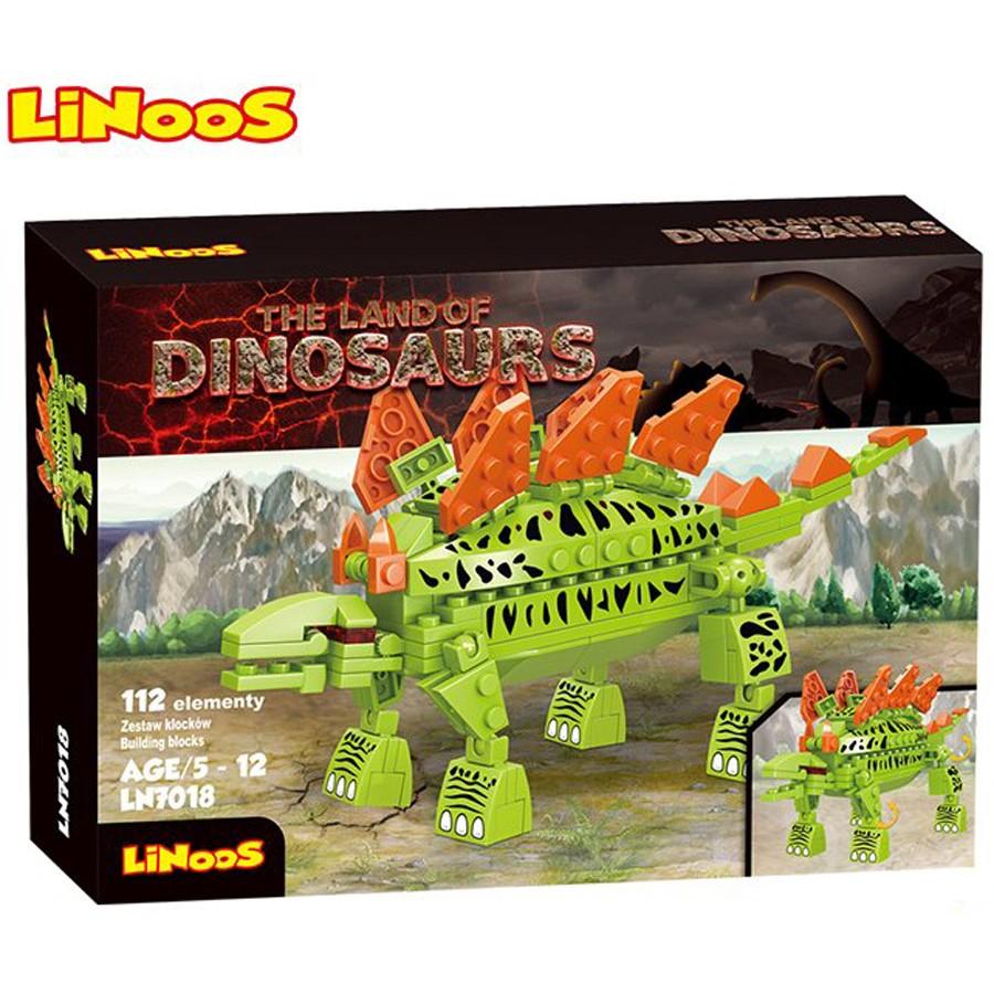 Stavebnice LiNooS Dino Land, Stegosaurus