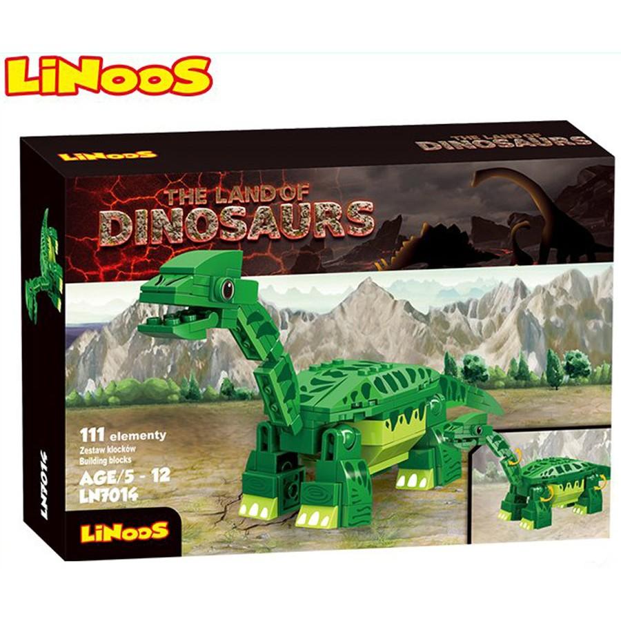 Stavebnice LiNooS Dino Land, Brontosaurus