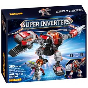 Stavebnice LiNooS Super Inverters Robot Dinosaurus LN7009