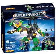 Stavebnice LiNooS Super Inverters Robot Dinosaurus LN7010