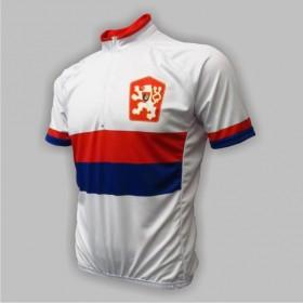 Retro cyklodres ČSSR bílý