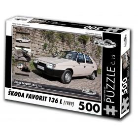 Škoda Favorit 136 L, 500 dílků, puzzle 13