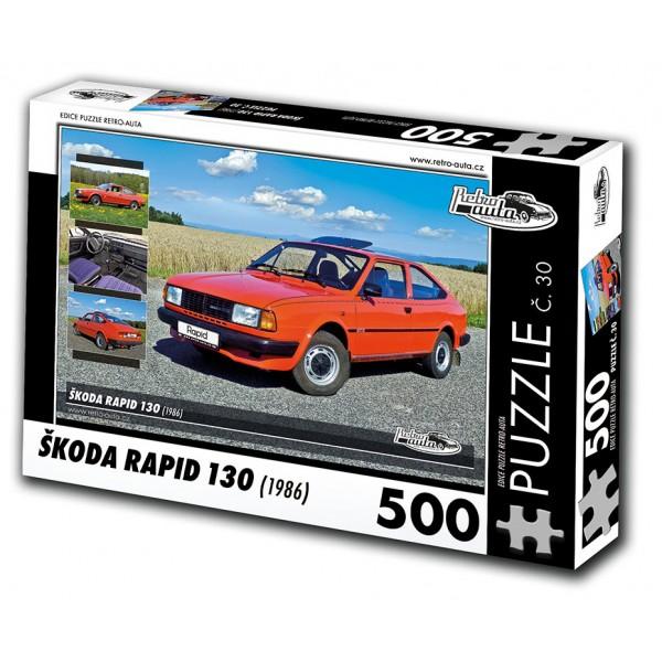Škoda Rapid 130, 500 dílků, puzzle 30