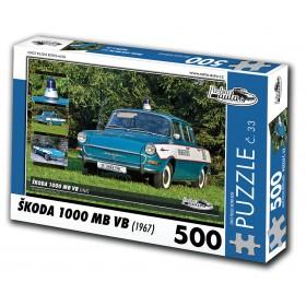 Škoda 1000 MB VB, 500 dielikov, puzzle 33