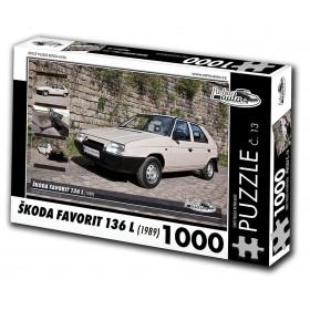 Škoda Favorit 136 L, 1000 dílků, puzzle 13