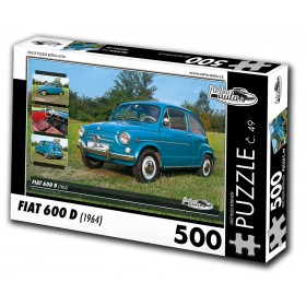 FIAT 600 D, 500 dílků, puzzle 49