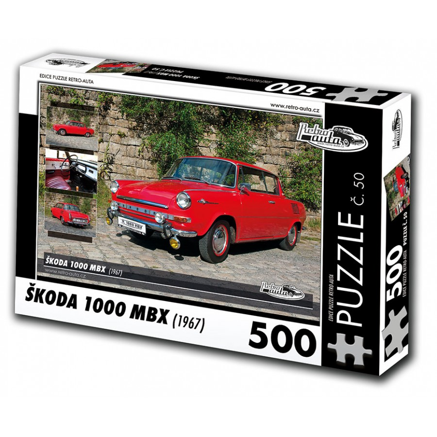 Škoda 1000 MBX, 500 dílků, puzzle 45